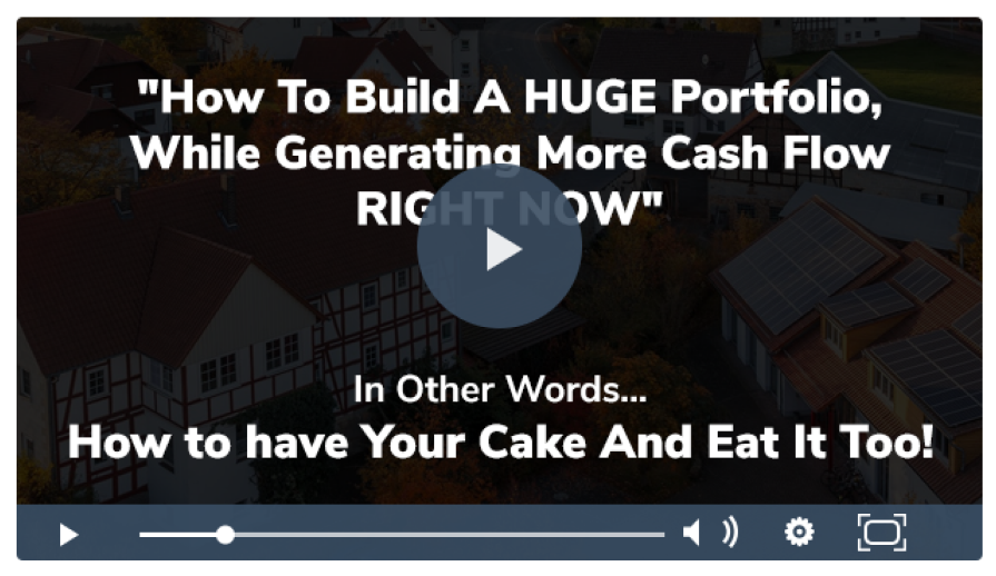 How To Build A Huge Portfolio, While Generating More Cash Flow RIGHT NOW