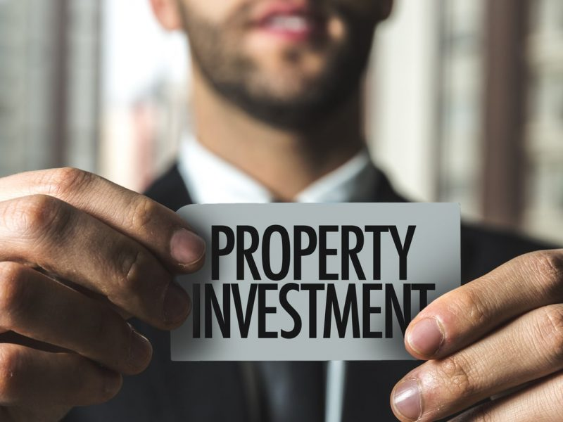 Property Investment card sign